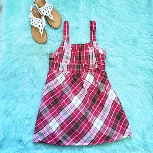 Little Miss Attitude Red Plaid Dress